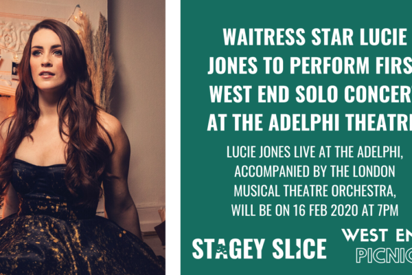 Waitress star Lucie Jones to perform solo concert at Adelphi Theatre